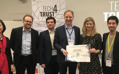 NextDay.Vision remporte le prix du programme d'accélération Tech4Trust de l'EPFL Innovation Park